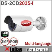 Multi-idioma Full HD 1080 P DS-2CD2035-I En Lugar DS-2CD2032F-I Cámara Mini CCTV de la Bala Al Aire Libre Cámara IP POE Cámara