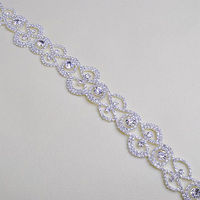 10Yds Clear Banding Rhinestone Trim Shinning Dress Embellishment Bling Bling Decorative Crystal Applique For Clothing Accessory