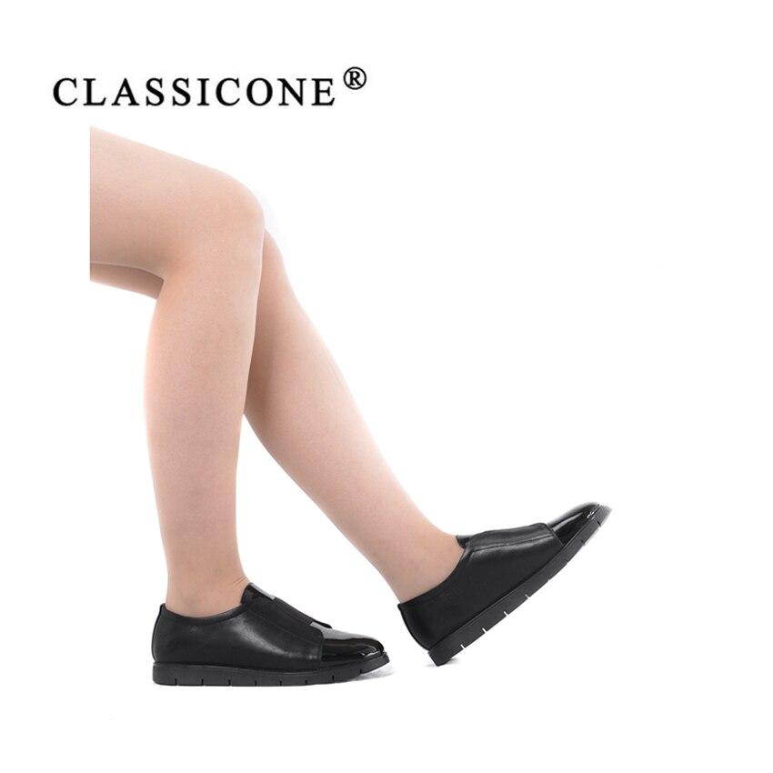 Femmes Marque Automne Printemps Avec Chaussures Véritable Main Noir Noir Appartements De Style Scoop Mode Rouge Designers rouge Cuir Classicone Femme SMUVqzGp
