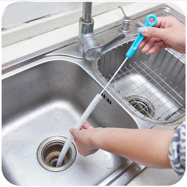 71cm Household Cleaning Tools Bendable Sink Overflow Drain Unblocker ...