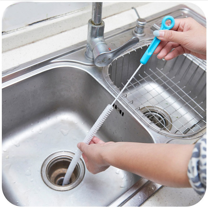 71cm household cleaning tools bendable sink overflow drain unblocker toilet pipe cleaner kitchen sewer cleaning brush. beautiful ideas. Home Design Ideas