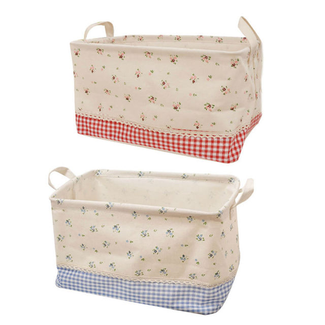 New Foldable Cotton Linen Storage Box Office Bedroom Desk Cosmetic Makeup  Toys Clothes Storage Pouch Boxes