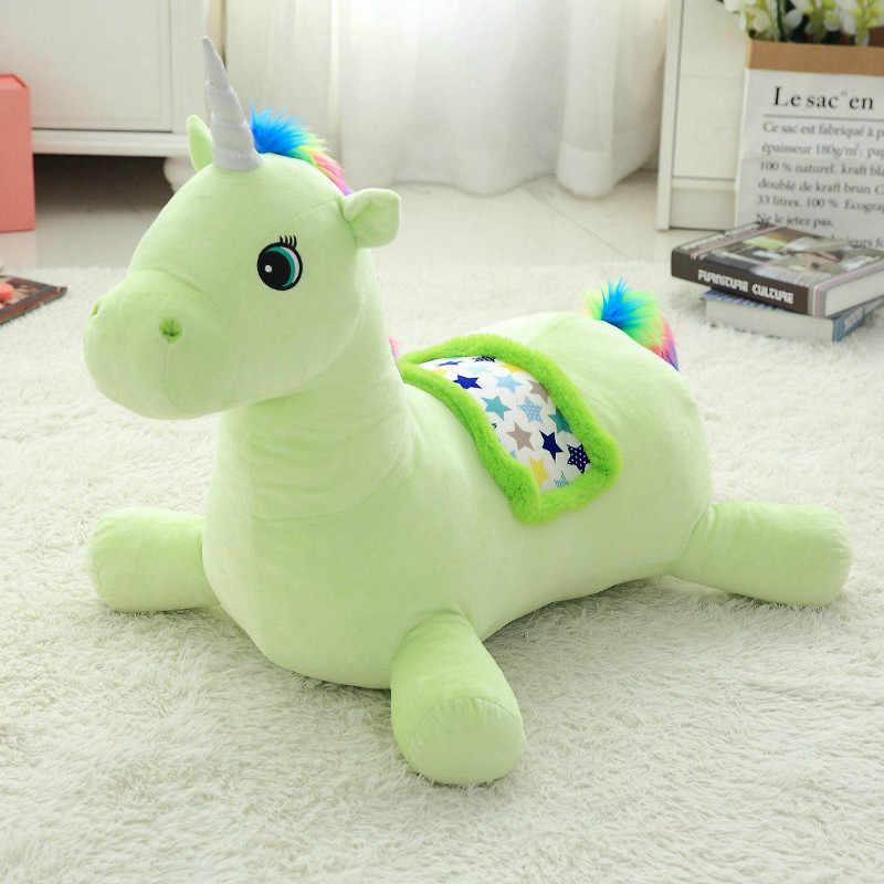 קטיפה חד קרן תינוק מושב האכלה רך ממולא בעלי החיים Unicorn בפלאש צעצועי בטיחות ילדים צעצועים לילדים