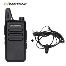 Cheap Zastone ZT-X6 Mini Walkie Talkie with Headset 400-470Mhz Frequency Portable Two Way Radio UHF Handheld Radios Comunicador