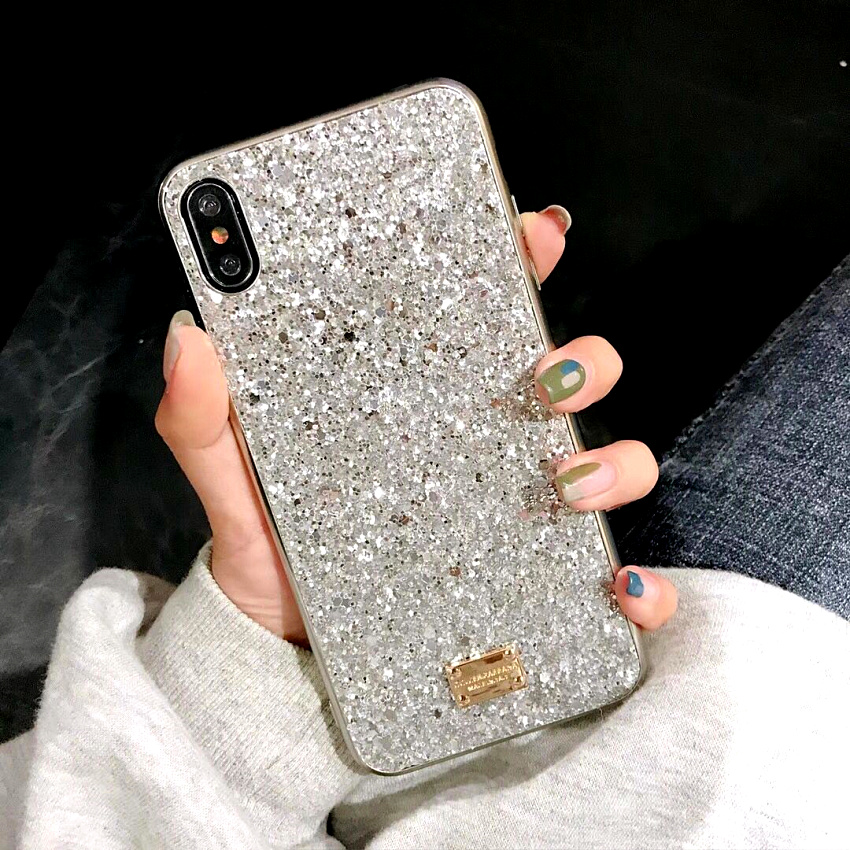 Luxury brand Bling Case For iphone 8 Plus 6s iphone X XS Max XR XS 10 Glitter 7plus Coque Cover For iphone 7 Plus  6 s Plus Case (5)