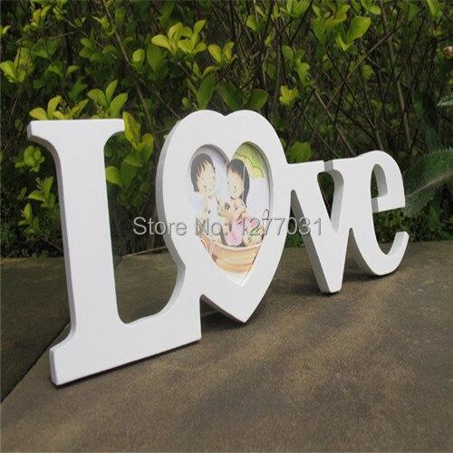 Us 8 98 2pcs Wood Photo Frames Love Style 2 Color Desktop Decorative Furnishing Ornaments Photo Frames Gift Ideas Artwork Wood Crafts Di Bingkai