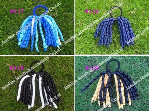 free shipping 300pcs korker ponytail holders streamer to korker hair clips