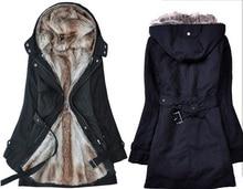 Free Shipping Women Hot Sale Plus Size Winter Lady's Slim Warm Coat S-XXXXL Beige/Black/Army Green