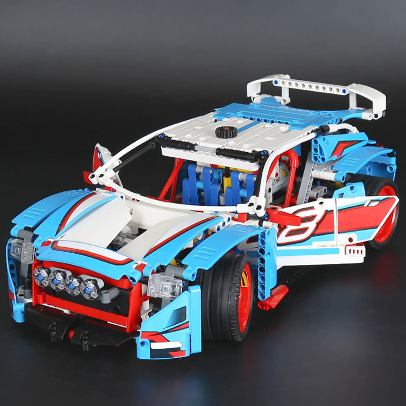 1085pcs Lepine 20077 Technic Series The Rally Car Set Building Blocks Bricks Educational kids Toys Gifts compatible legoe 42077 lepin 20077 genuine technic series the rally car set 42077 building blocks bricks educational funny toys as children gifts