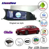 Liandlee For Alfa Romeo Giulia 2015~2018 Android Multimedia GPS Original car style Stereo Radio Carplay Wifi BT Navi Navigation