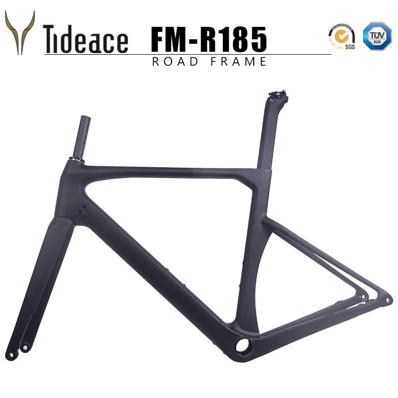 Disc Brake 100% Full Carbon Road Frame Axle 142*12mm T1000 Carbon Fiber Road Racing Bicycle Frameset