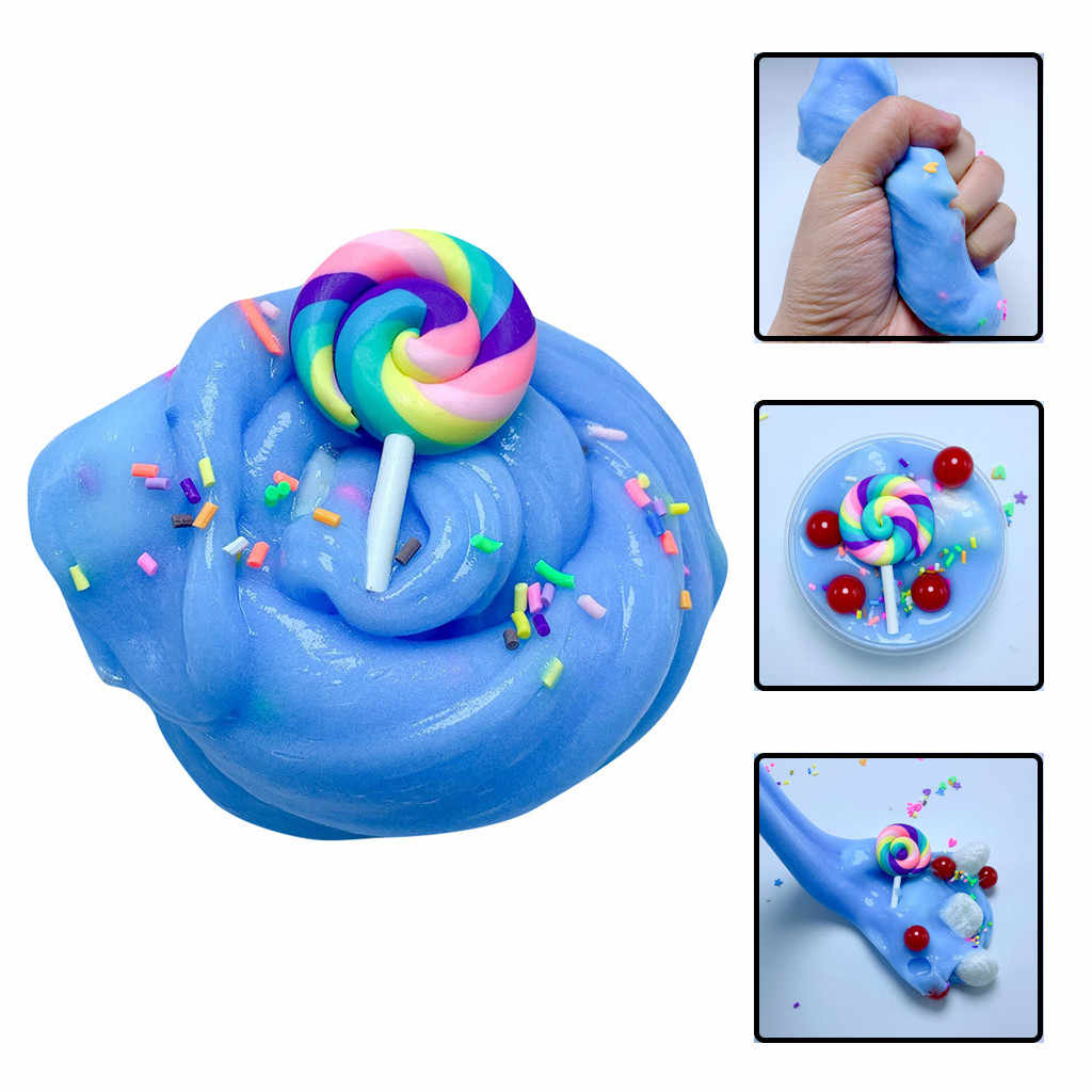Hot Sale Charm Cute Lollipop Butter Slime Stress Relief Children Kid Funny Toy funny present interesting toys squishy  #M20