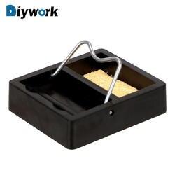 DIYWORK Электрический паяльник Стенд держатель металла Поддержка станции с губка для припоя рамки Малый и простой