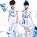 Китайская Народная Традиционный Стиль дети танец носить костюмы Девушки бальные танцы платье Мальчики Партия танец наряды