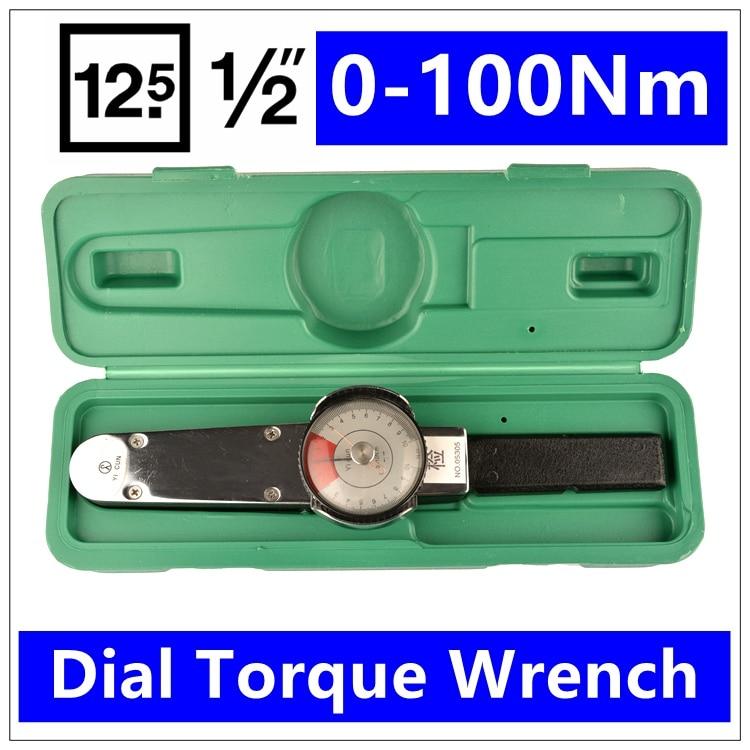 MXITA 1/2 0-100Nm Dial Torque Spanner Dial گشتاور با دقت - ابزار دست