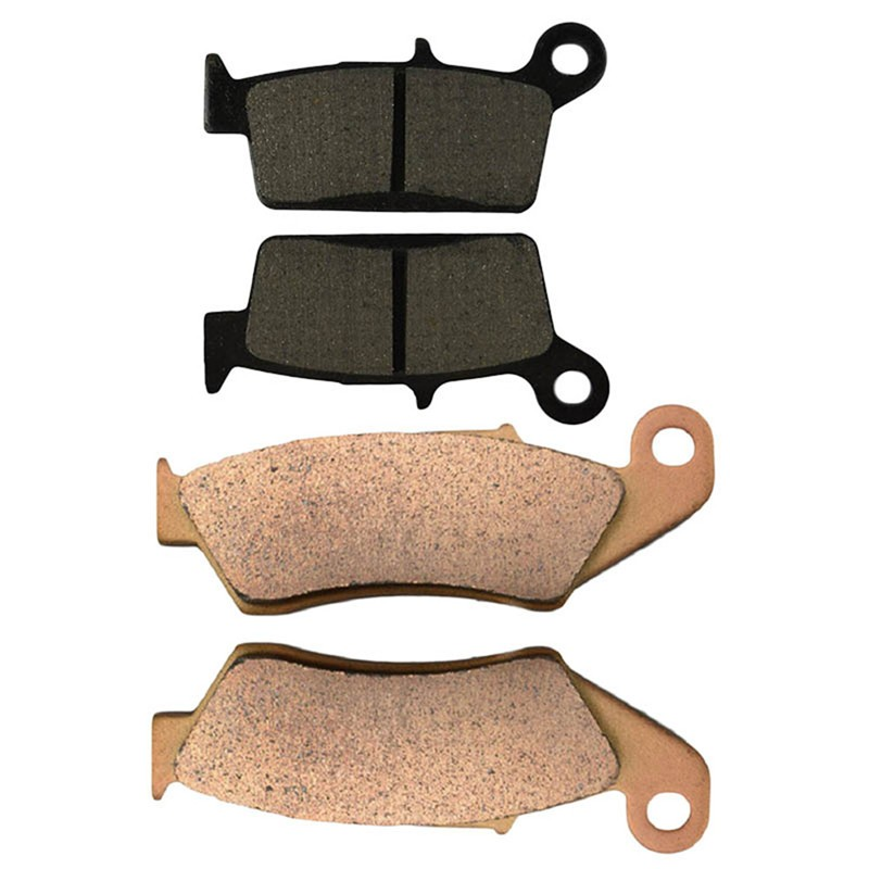 Motorcycle Front and Rear Brake Pads for KAWASAKI KLX250 S 1997-2006/KLX400 R SR 2003-2004/ KLX650 R D1 -1996 Black Brake Pad motorcycle front and rear brake pads for honda cb600f cb600 f 599 2004 2006 brake disc pad kit