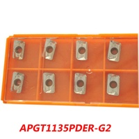 Free Shipping Carbide Inserts APGT1135PDER M2 R0 8 Aluminum For Face Milling Cutter Suitable CNC Machine
