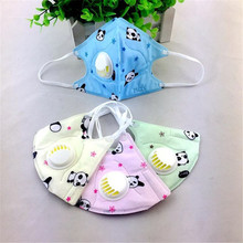 3pcs Folding Non-woven Valved Mask PM2.5 Dust Anti Haze Disposable Masks Children Cute Printed Earloop Respirator Cover