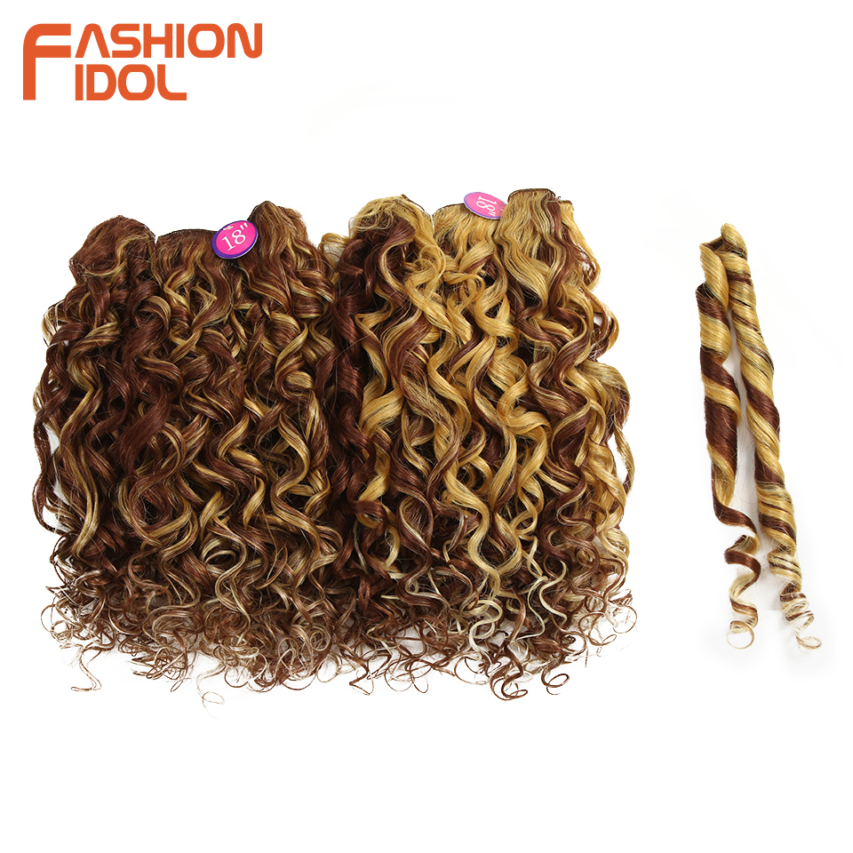FASHION IDOL Hair Bundles Loose Deep Wave Synthetic Hair Ext