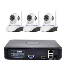 4CH Wireless NVR Kit 720P HD Indoor IP Video Security Camera System Waterproof IR Night Vision WIFI Surveillance System