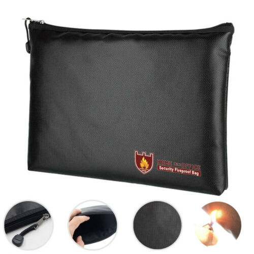 Fireproof Waterresistant Money Safe Cash Box Secret Document Bag File Pouch Case Waterproof Portable Briefcases