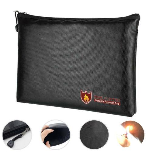 Fireproof Waterresistant Money Safe Cash Box Secret Document Bag File Pouch Case Waterproof Portable Briefcases