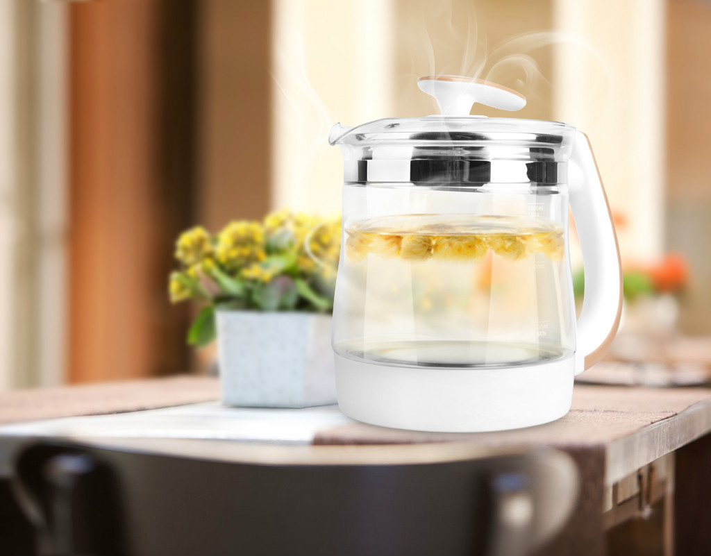 Pot de santé en verre épais santé médecine sécurité Auto-Off fonction bouilloire électrique