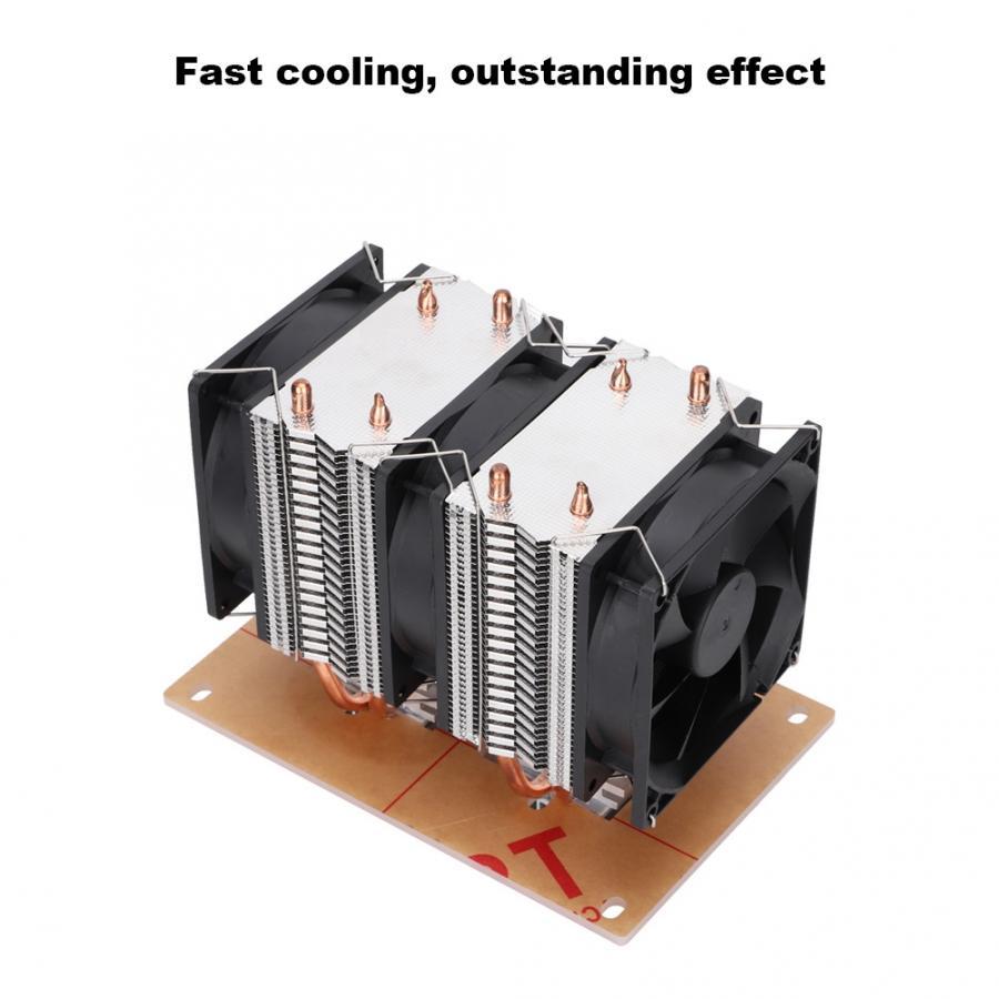 Ventilateur refroidissement ventilateur LED refroidissement pour Pc 12 V bricolage 12A 144 W électronique semi-conducteur réfrigérateur Double Kit ventilateur - 5