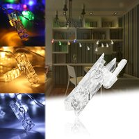 4 M Mini 40 LED Clip String Lights Battery Car Christmas Lights New Year Party Wedding