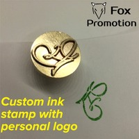 Customize Ink Brass Stamp With Your Logo New Big Size Head DIY Ancient Seal Retro Stamp