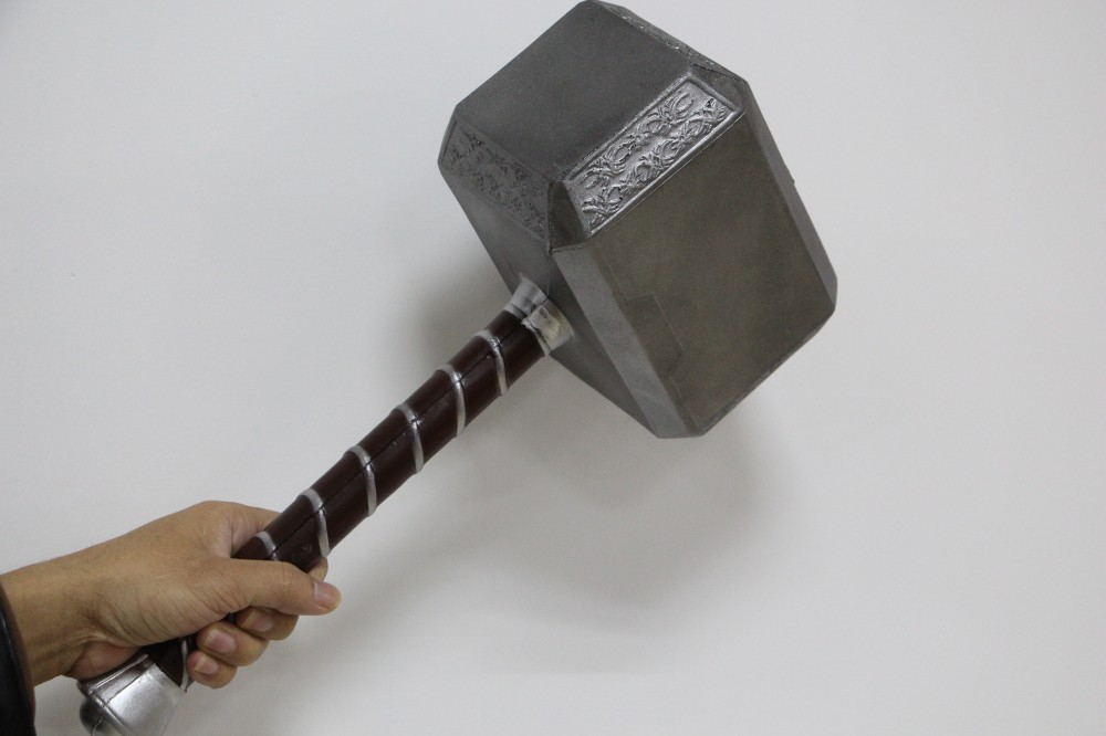 New types 1:1 Scale Thor Hammer Mjolnir 1/1 Replica Thor Custom Cosplay Hammer 1 1 scale life size scale prop hellboy right hand of doom replica new