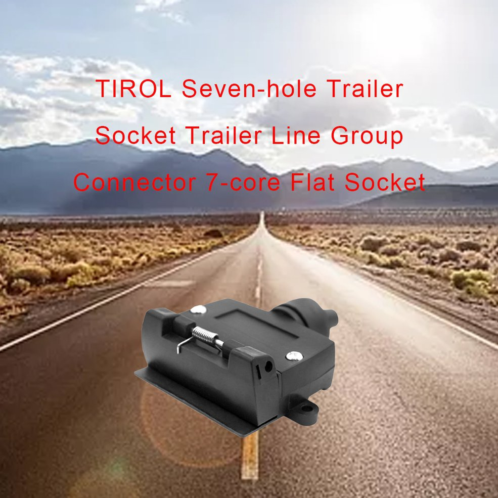 Image 3 - 7 Pin Flat Female Trailer Light Plug Connector Socket Caravan Car Truck Adapter Electrical Plug & Socket-in Trailers & Trailer Couplings from Automobiles & Motorcycles