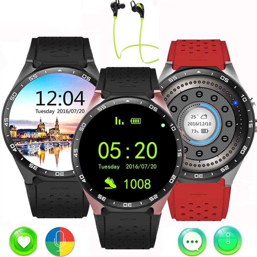 Prix pour Fentorn kw88 android 5.1 os smart watch 1.39 pouce écran mtk6580 smartwatch téléphone bluetooth de soutien 3g wifi sim carte mp3 caméra