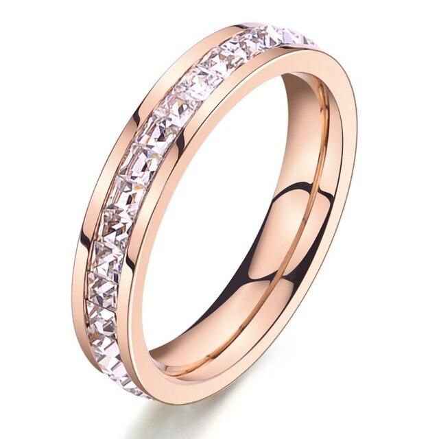 KNOCK  Girls Geometric Ring  Filled & Rose Gold Ring Promise Wedding Engagement Rings For Women Best Gifts 4