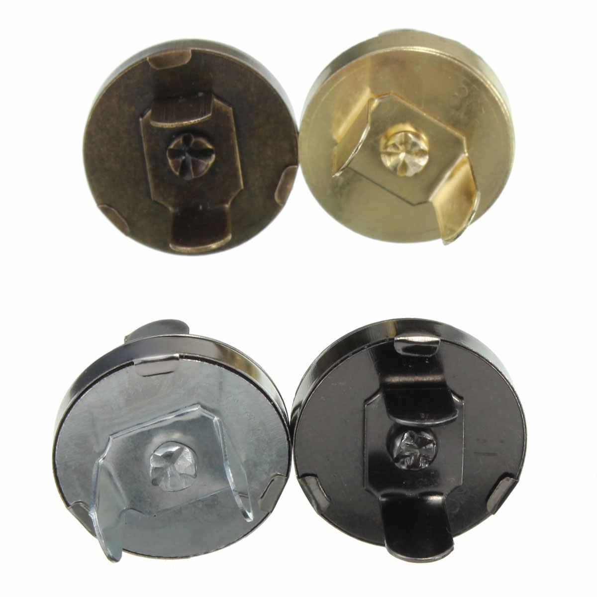 5 قطعة/الوحدة 18 ملليمتر السحابات المفاجئة المغناطيسي المشابك أزرار يد محفظة محفظة كرافت أكياس أجزاء اكسسوارات DIY استبدال زر