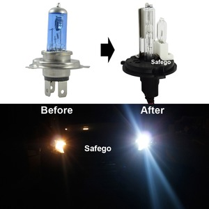 Image 4 - Safego DC 12V hid xenon h4 xenon halogen bulbs light H4 9004 9007 H13 high low Hi Lo lamp 35W Car headlight 4300K 6000k 8000k