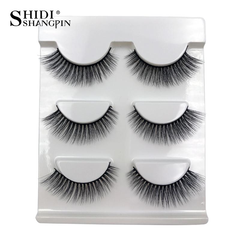 1 Box Natural Long 3D Mink Lashes Handmade False Eyelashes Wispy Mink - Makeup - Photo 3