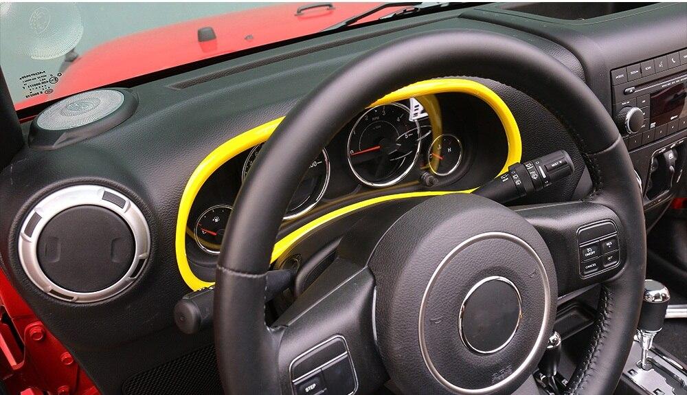 Mopai abs interior del coche panel de instrumentos dashboard decoraci n anillo trim pegatinas - Decoracion interior coche ...