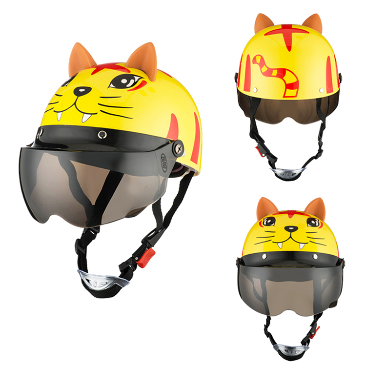 Image 5 - Unisex Flip Up Motorcycles Helmets for 3 10 Years Child Riding Snowboard Banlance Bike Scooter Motorbike Back Seat Safety Helmet-in Helmets from Automobiles & Motorcycles