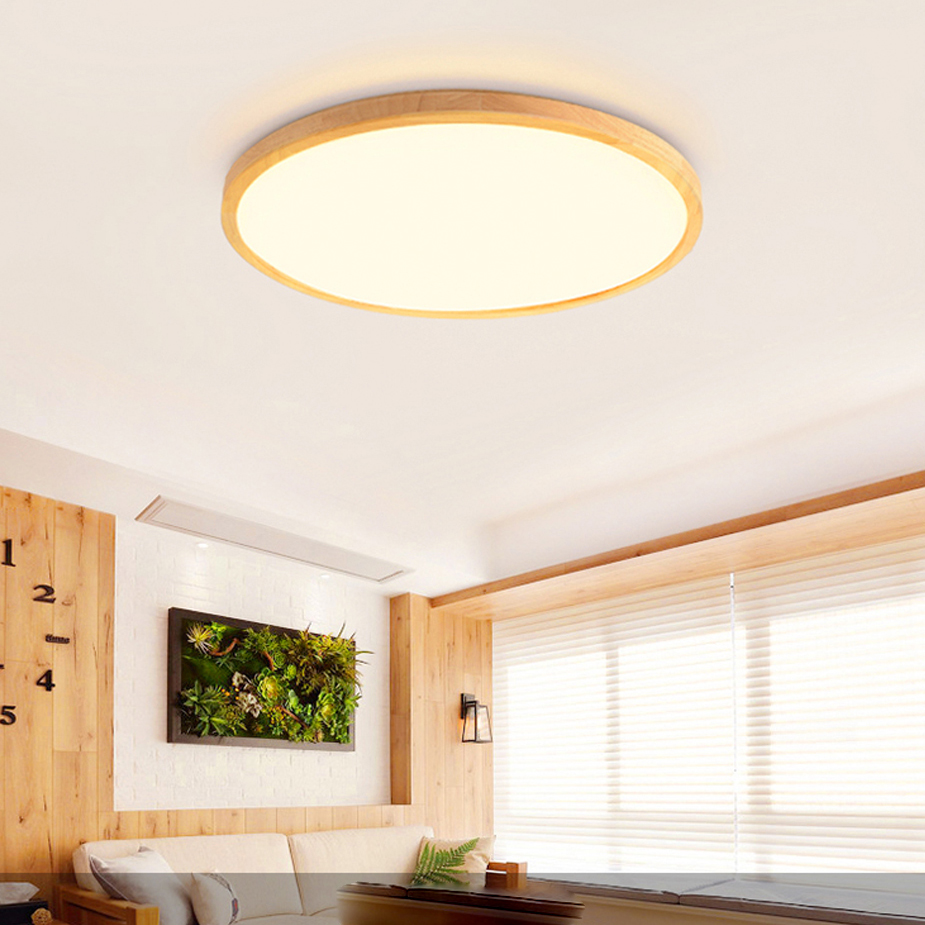 LED Modern Wood Acryl Round 4.5cm Super Thin LED Lamp.LED Light.Ceiling Lights.LED Ceiling Light.Ceiling Lamp For Foyer Bedroom