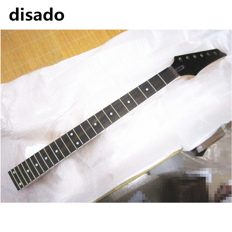 disado 24 Frets Inlay dots maple Electric Guitar Neck rosewood fingerboard matte paint Wholesale Guitar accessories parts disado 22 frets tiger flame maple electric guitar neck rosewood fingerboard inlay dots wood color guitar accessories customized