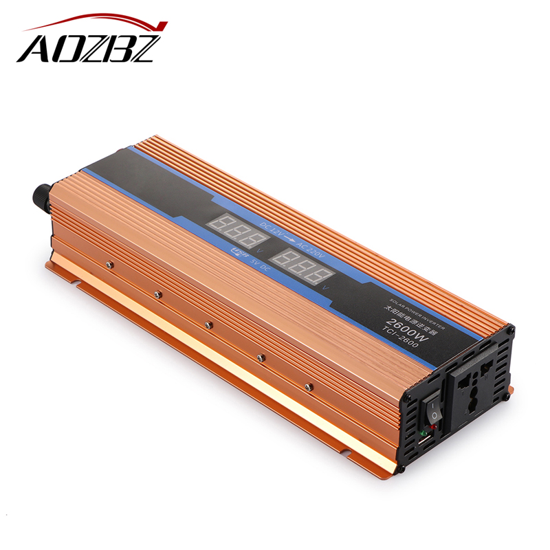 Car inverter 2600W DC 12V to AC 220 V Digital Display of Protection Voltage against Overload