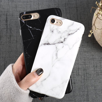 Luxury Marble Pattern i 8 Phone Case For iPhone 8 Plus Case For iPhone8 Plus Black Phone Accessories Coque X 7 Plus 6 6S 5 S SE
