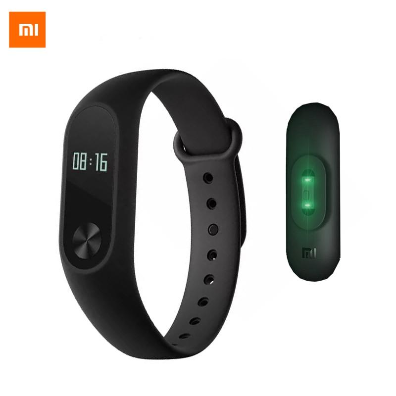 Hot Ursprüngliche xiaomi mi band 2 Smartband CE Oled-display Touchpad Miband 2 Pulsmesser Bluetooth 4,0 fitness tracker