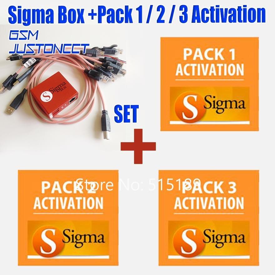 Nouvelle boîte sigma d'origine avec 9 jeux de câbles + Pack Sigma 1, 2, 3 Activations/boîte SIGMA + PACK1 + PACK2 + PACK3 pour Huawei