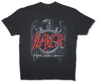 Slayer Czarny Orzeł Klasyczny Obraz Mężczyzna T Koszula Heavy Metal Muzyka Kerry Król