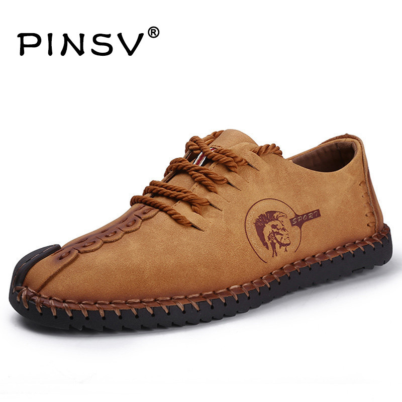 6 Colours Leather Casual Shoes Men Flats Brand Men Shoes Spring Mocassim Men Loafers Chaussure Homme Sapato Masculino