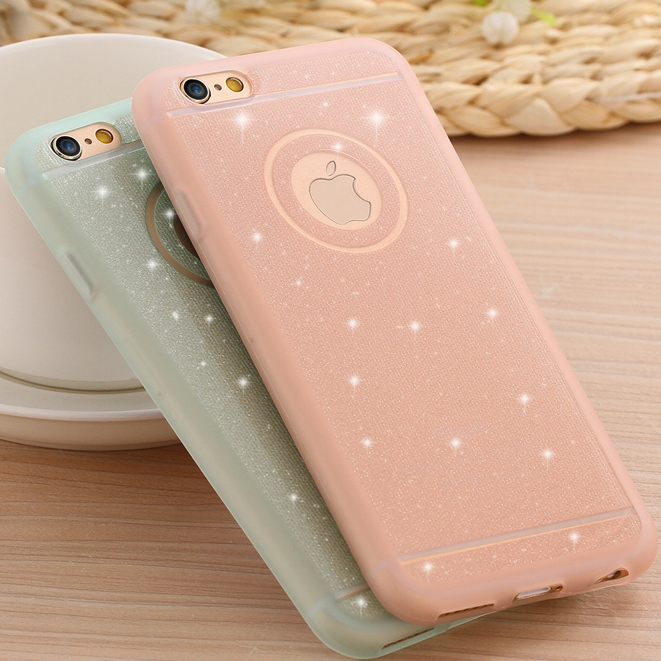 KISSCASE For iPhone 6 Case Glitter Powder TPU Silicone Case For iPhone 6 6s Plus 5 5s SE Cases Cover Soft Rubber Silicon Capa
