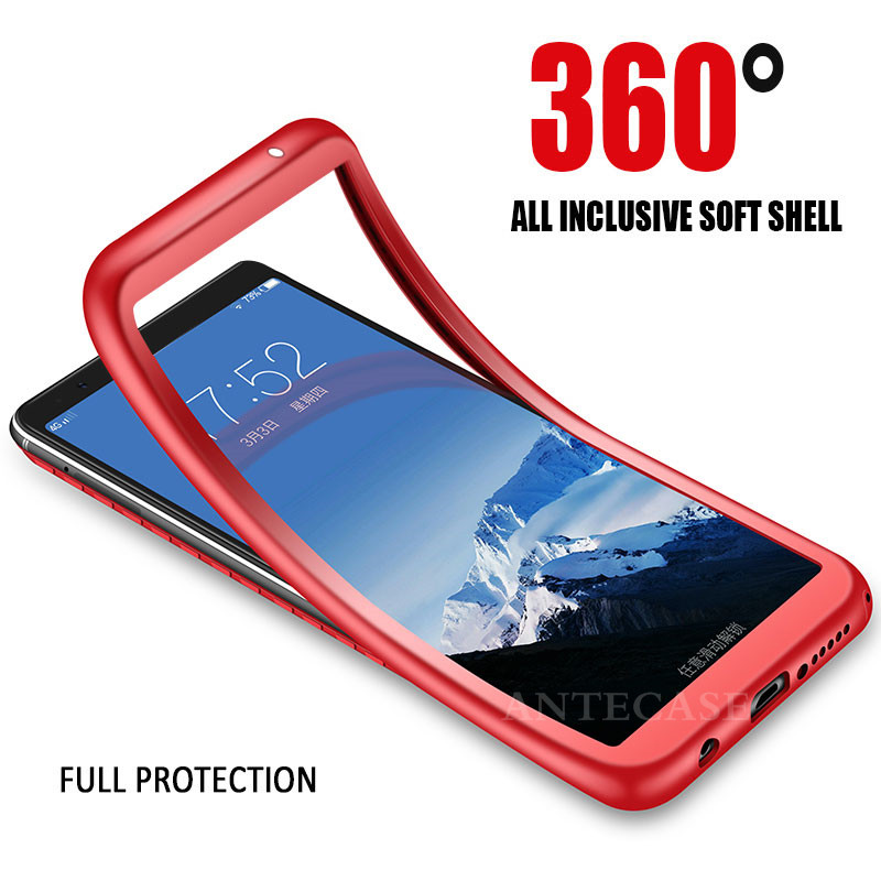 For Fundas Huawei P20 Lite Pro Case Cover Huawei P8 P9 P10 Lite 2017 Y5 Y6 Y7 Prime Y9 2018 Full Cover 360 Silicone Phone Case 360 degrees
