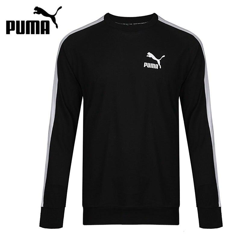 Original New Arrival 2018 PUMA Classics T7 Logo Crew TR Men's Pullover Jerseys Sportswear original new arrival 2017 puma archive logo t7 pant women s pants sportswear